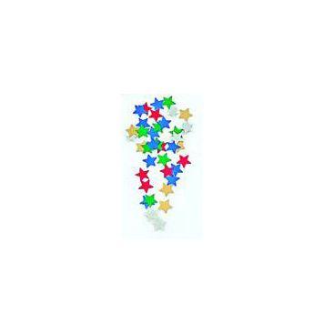 Confettis métals étoiles multicolores