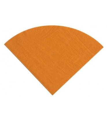 Serviette ronde orange