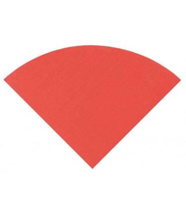 Serviette ronde rouge