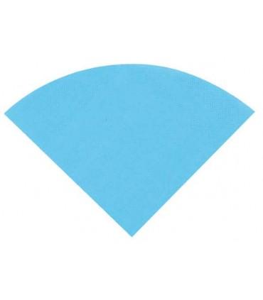 Serviette ronde turquoise
