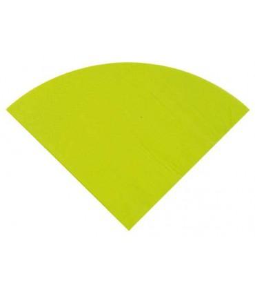 Serviette ronde vert clair