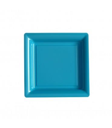 Assiette dessert 18cm turquoise