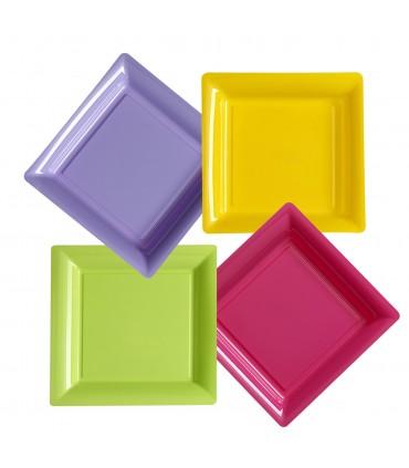 Assiette carrée présentation