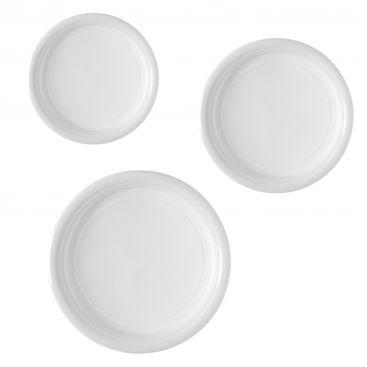 Assiettes plastiques blanches 17, 20, 22cm