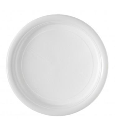 Assiette plastique blanche repas 22 cm