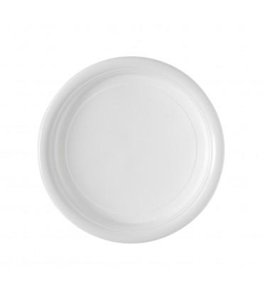Assiette plastique blanche repas 20 cm
