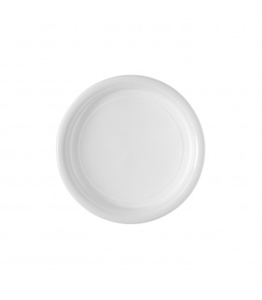 Assiette plastique blanche dessert 17 cm