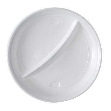 Assiette plastique 2 compartiments