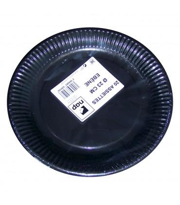 Assiette carton noire