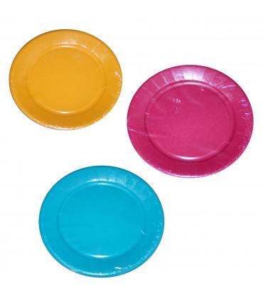 Assiette carton 23cm couleurs