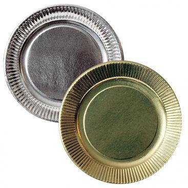 Assiette carton argent et or