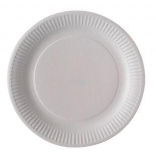 Assiette carton blanche 23 cm