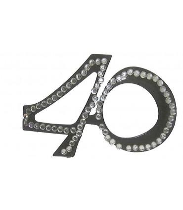Lunette 40 ans diamant noire