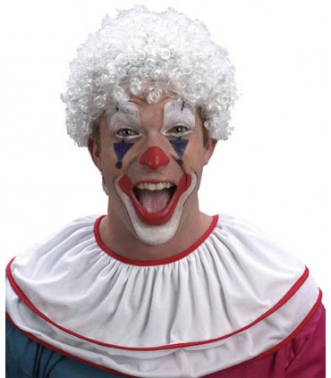Perruque clown blanche
