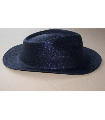 Chapeau capone paillette noir