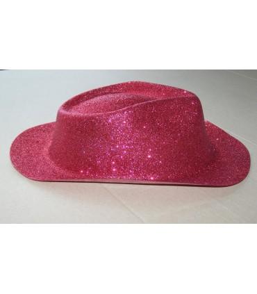 Chapeau capone paillette rouge