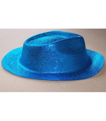 Chapeau capone paillette turquoise