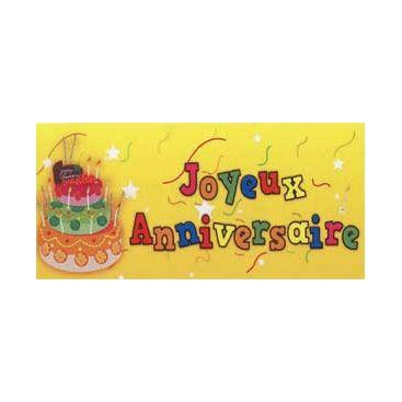 Bannière anniversaire gâteau