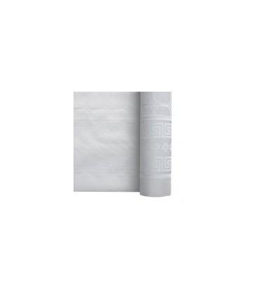 Nappe damassé blanc 1.20 x 100 m