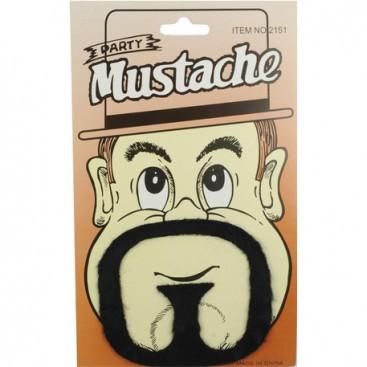 Moustache et bouc châtain