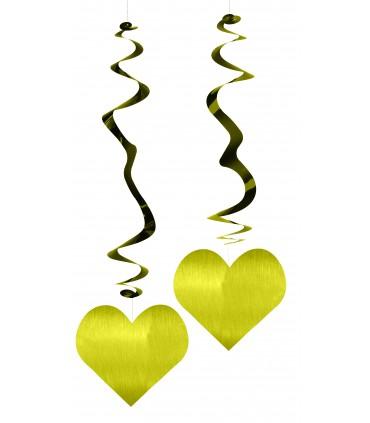 Découpe metal coeur x 6