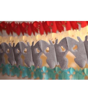 Guirlande papillon gris
