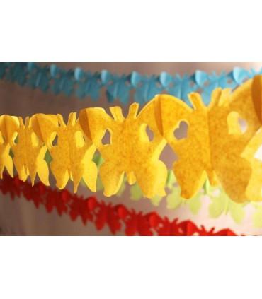 Guirlande papillon jaune d'or