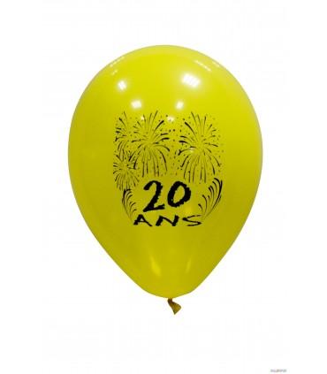 Ballon 25 cm âge