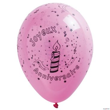 Ballon 25 cm anniversaire