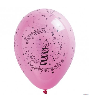 Ballon d'anniversaire (25/29 cm.)