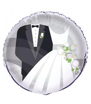 Ballon mylar rond mariage