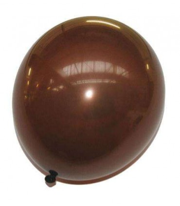 Ballon uni standard 30 cm chocolat