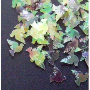 Confettis colombe irisée