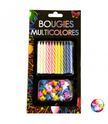 Bougie striée multi