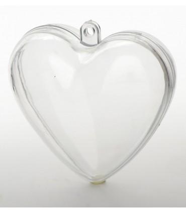 Coeur transparent 8 cm