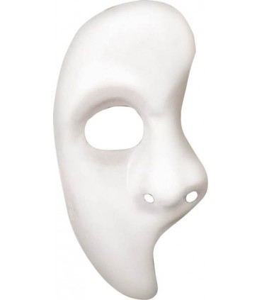 Masque blanc 1/2 visage