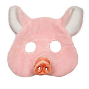 Masque peluche cochon