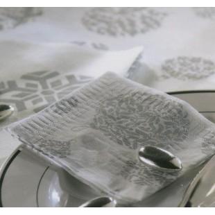 Féerique argent : serviette coktail