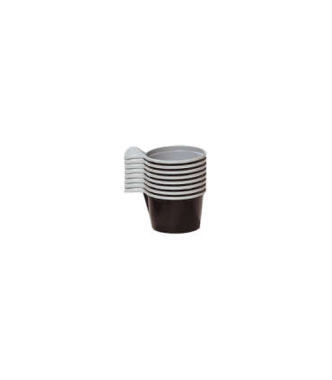 Tasse 10 cl marron/blanche