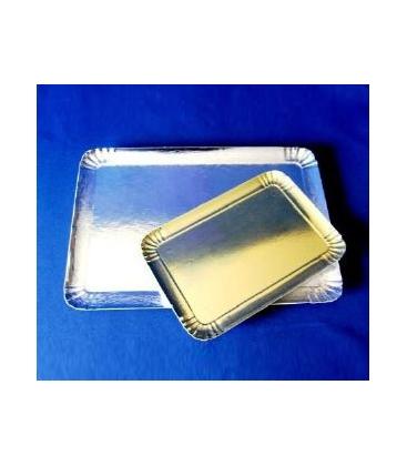 Plateaux carton argenté 19 x 28 cm (lot de 10)