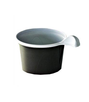 Tasse 15 cl marron/blanche