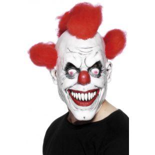Masque de clown cheveu rouge