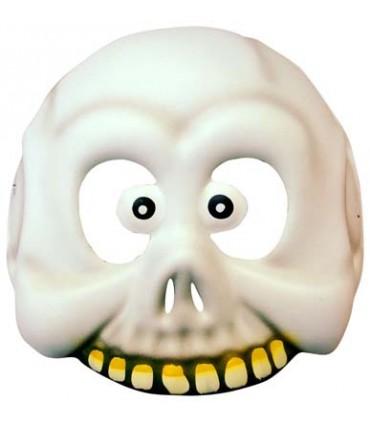 Masque mousse squelette blanc