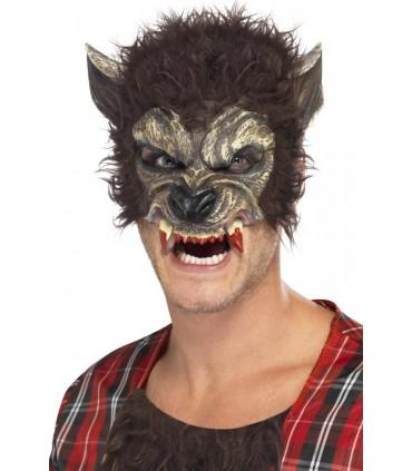 Masque demi visage loup garou