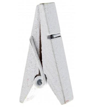 Pinces à linge porte-nom bois blanc