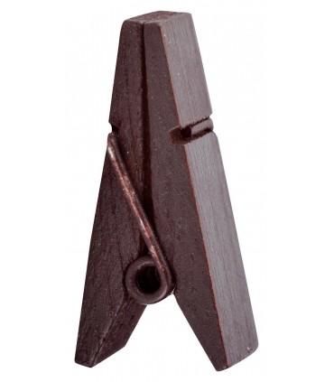 Pinces à linge porte-nom bois chocoloat