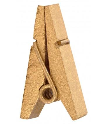 Pinces à linge porte-nom bois or