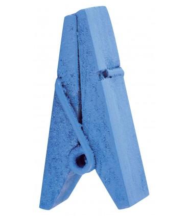 Pinces à linge porte-nom bois turquoise