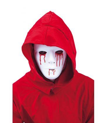 Masque blanc larme de sang
