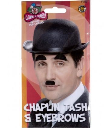 Moustache charlot noire + sourcil